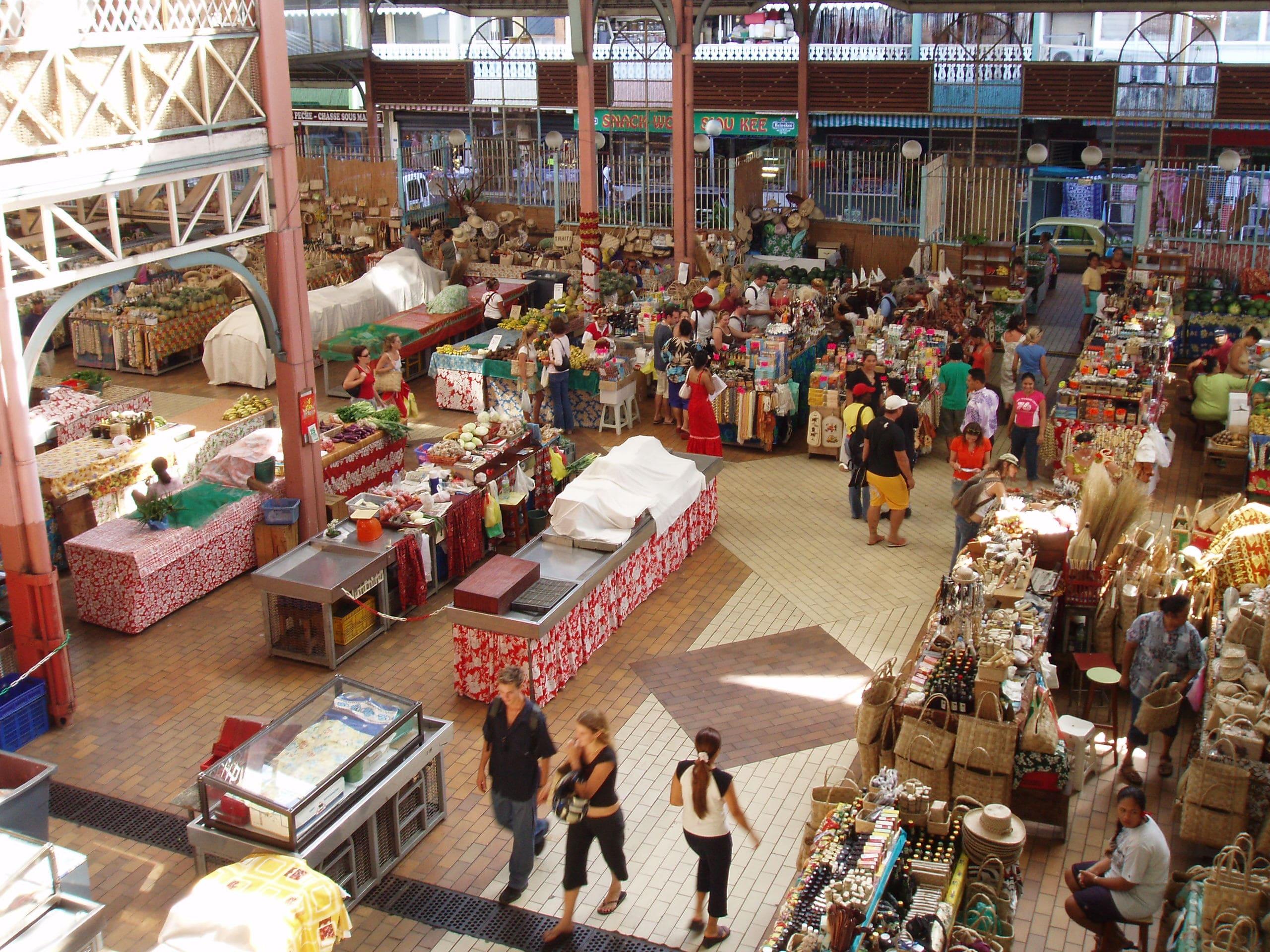 タヒチ島_パペーテの公共市場