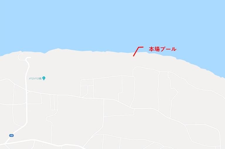 南大東島_本場プール地図