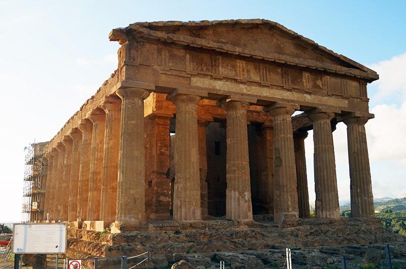 シチリア島_アグリジェントのコンコルディア神殿