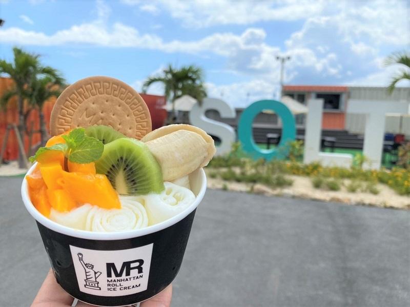 沖縄・宮古島:東京原宿発のロールアイス、BBQ複合施設SOLT限定メニュー提供