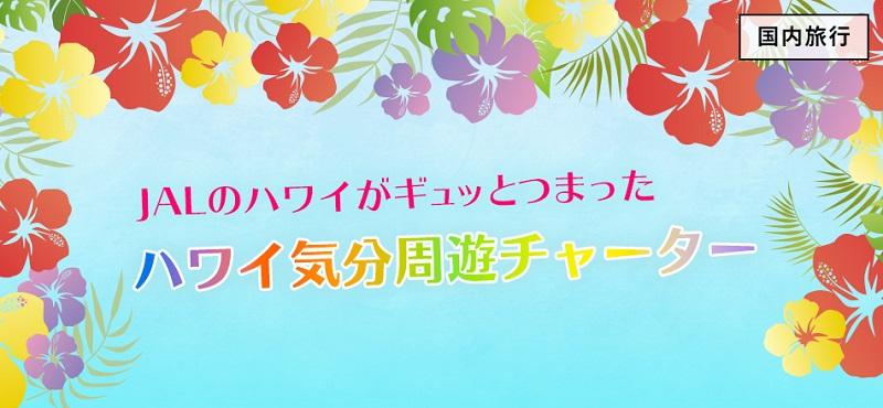 11/14発「JALのハワイがギュッとつまった ハワイ気分周遊チャーター」抽選応募受付開始
