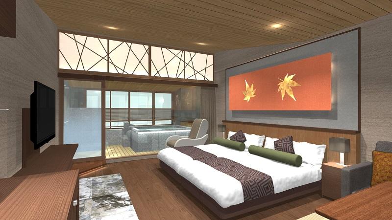 厳島:老舗旅館 錦水館、瀬戸内海を眺望できる半露天温泉付き客室が誕生!