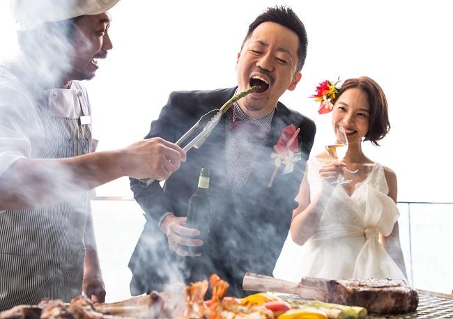 沖縄・瀬長島_「POSILLIPO cuccina meridionare」BBQウェディングプラン