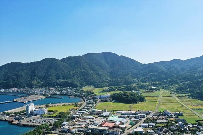 上甑島_上空からの里町