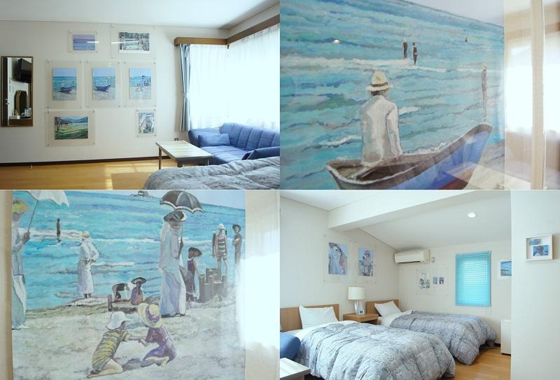 粟島:「ル・ポール粟島」アーティストが描くアートルーム宿泊プラン発売