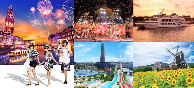 針尾島:夏のハウステンボス「サマーフェスティバル ~光の街の夏祭り~」開催