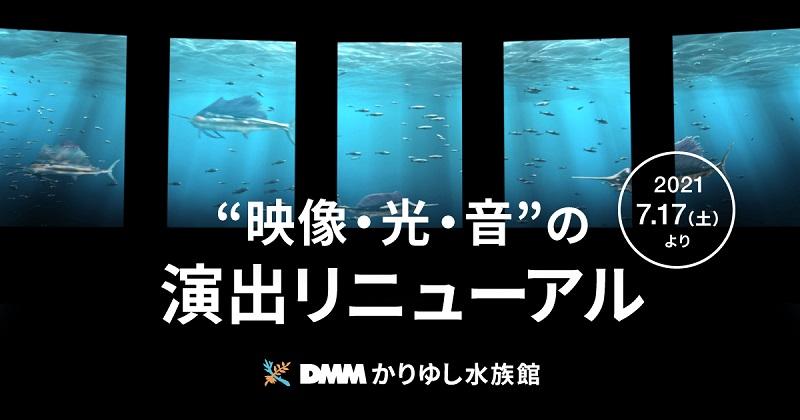 沖縄・豊見城市:DMMかりゆし水族館、光・音・映像の空間演出で3エリアをリニューアル