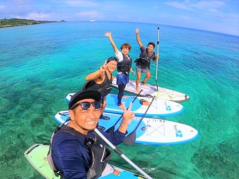 【沖縄アンダゴ】沖縄本島で、青の洞窟&SUPクルージング
