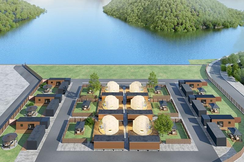 大崎下島:ドーム型グランピング施設「GLAMPISPA瀬戸内」グランドオープン!
