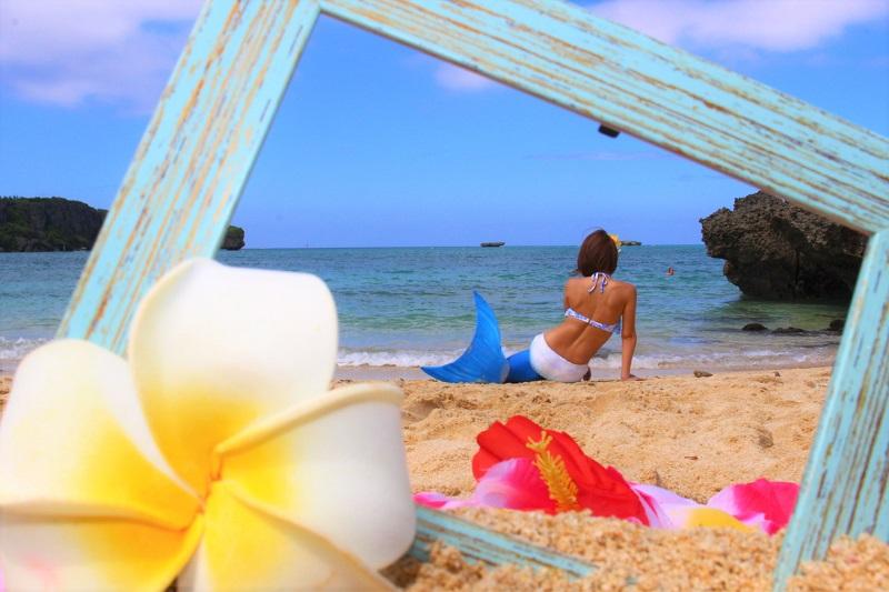 【恩納村海浜公園ナビービーチ】女の子の憧れ♡沖縄でマーメイドに変身