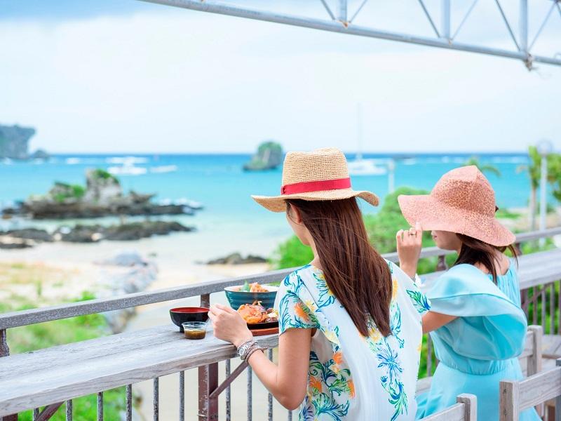 【海人料理 亀ぬ浜】恩納村海浜公園にある魚料理が自慢のお食事処