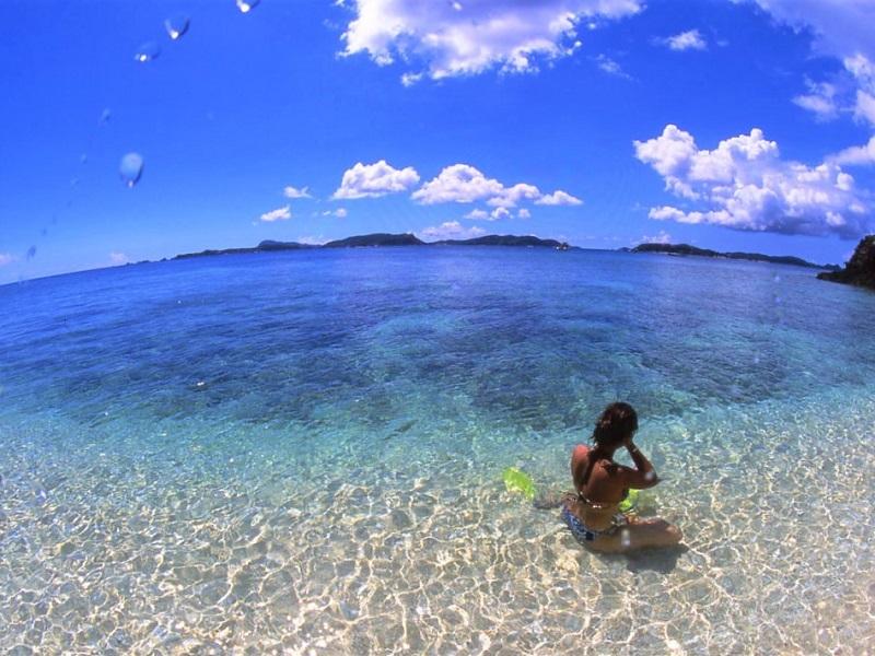 【セルリアンブルー】那覇から行く「渡嘉敷島・阿波連ビーチ&とかしくビーチ」日帰りツアー